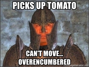 picks-up-tomato-cant-move-overencumbered