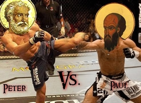 Thoughts of a Theophile: Peter vs. Paul: Biblical Ultimate Fighting  Championship
